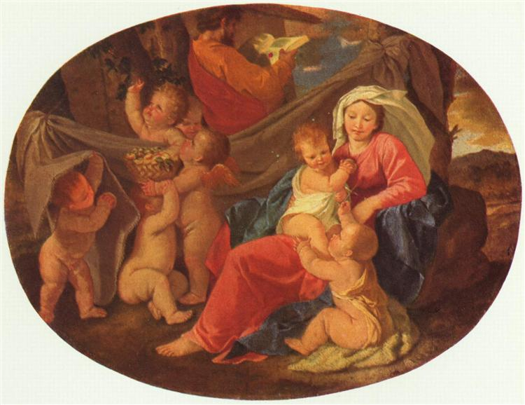 Holy Family with Angels, c.1625 - 1630 - Nicolas Poussin