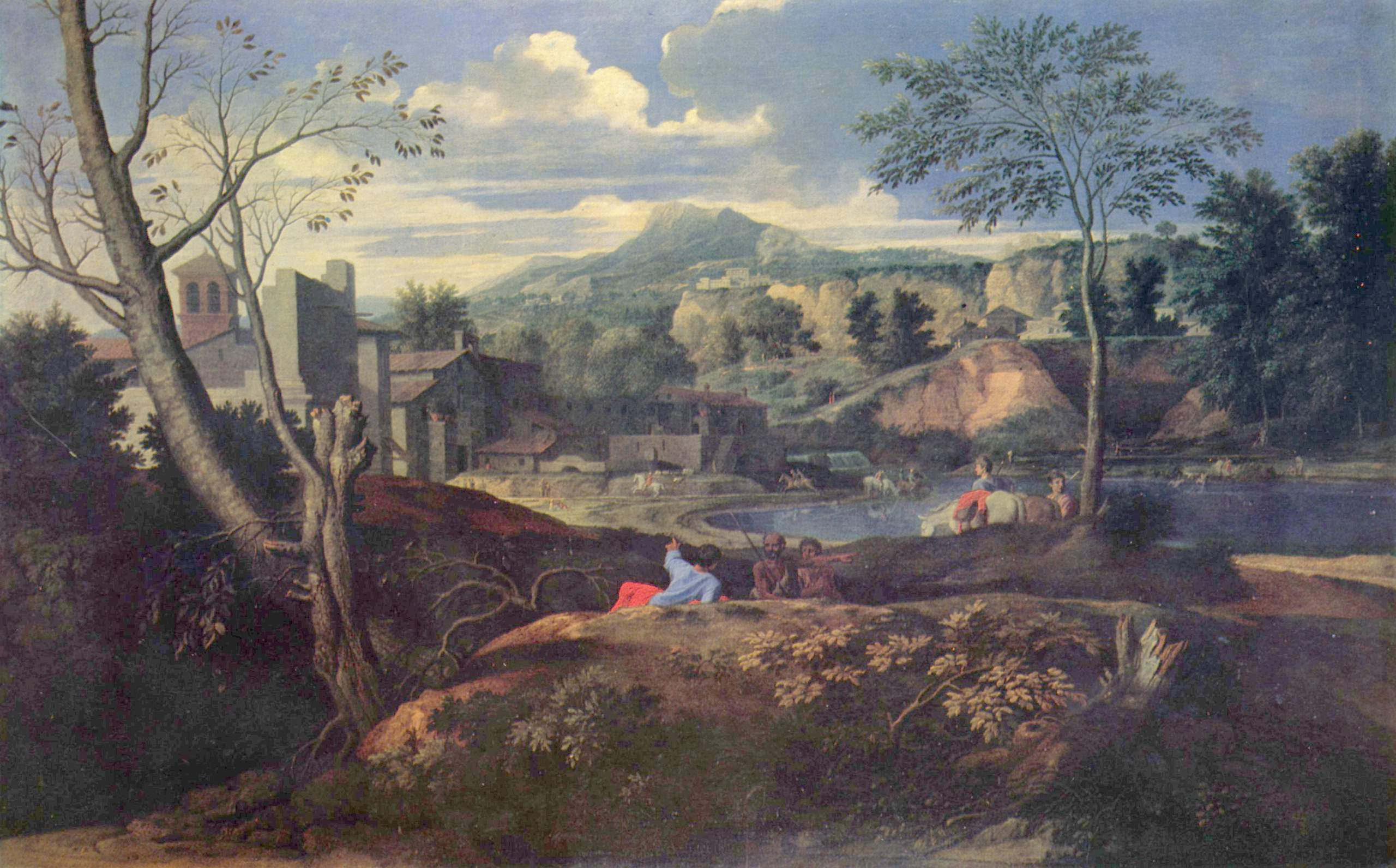 Ideal Landscape C 1645 1650 Nicolas Poussin Wikiart Org