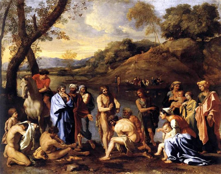 St. John Baptising the People, c.1636 - Nicolas Poussin