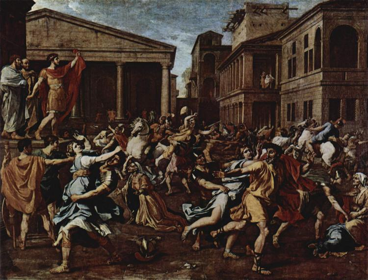 an analysis of the rape of the sabine women by nicolas poussin Picasso: peace and freedom: room 8: the rape of the rape of the sabine women this series from nicolas poussin's rape of the sabine women 1637–8 and.