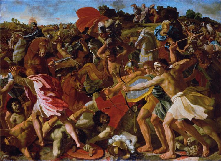 Victory of Joshua over the Amalekites, c.1625 - Nicolas Poussin