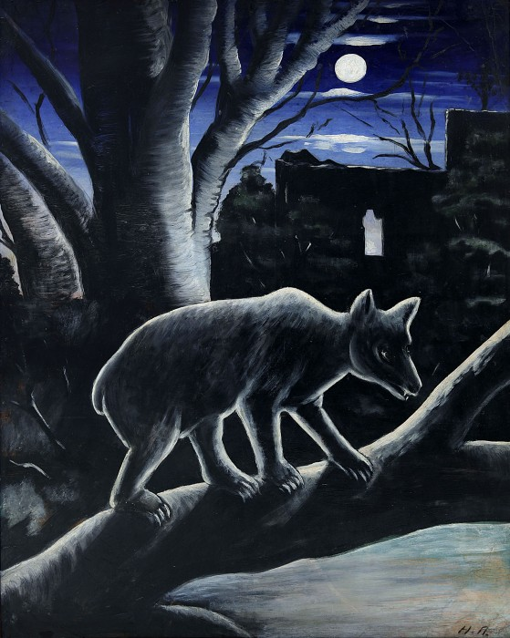 A Bear in a Moon Night, 1913