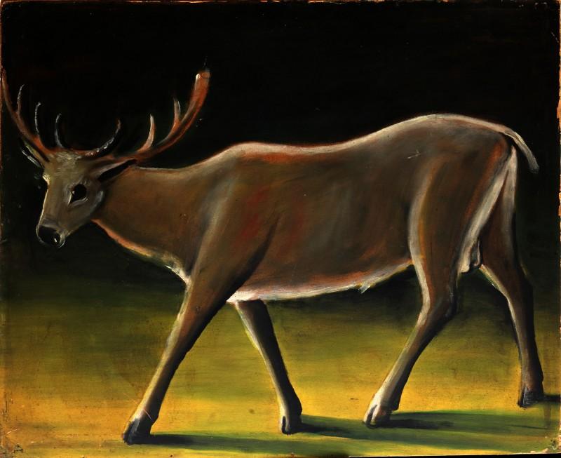Running deer, 1909