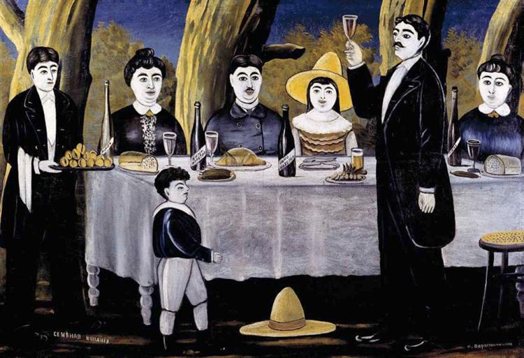 Family feast, 1907 - Niko Pirosmani