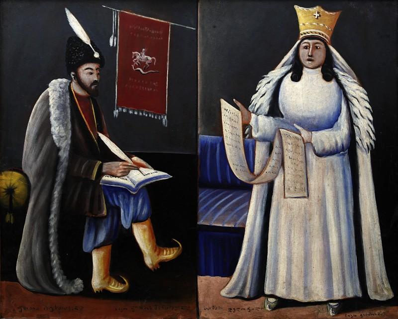 Shota Rustaveli and Queen Tamar, 1915
