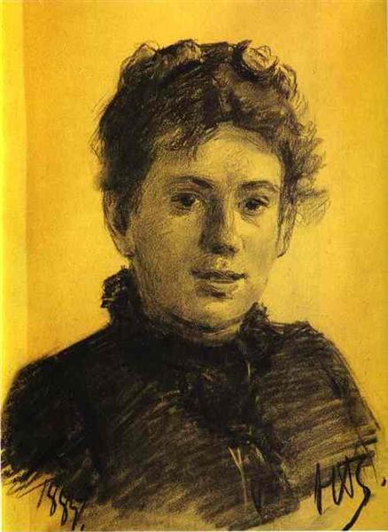 Portrait of Tatyana Tolstaya, Leo Tolstoy's Daughter, 1887 - Nikolai Ge
