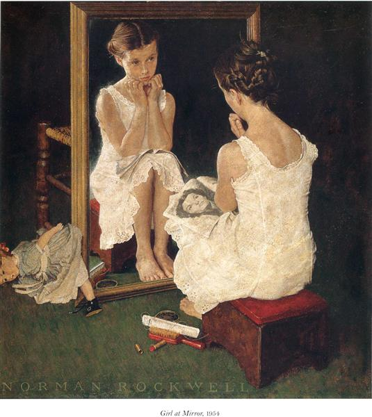 Girl at Mirror, 1954 - Norman Rockwell