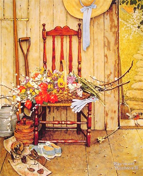 Spring Flowers, 1969 - Norman Rockwell