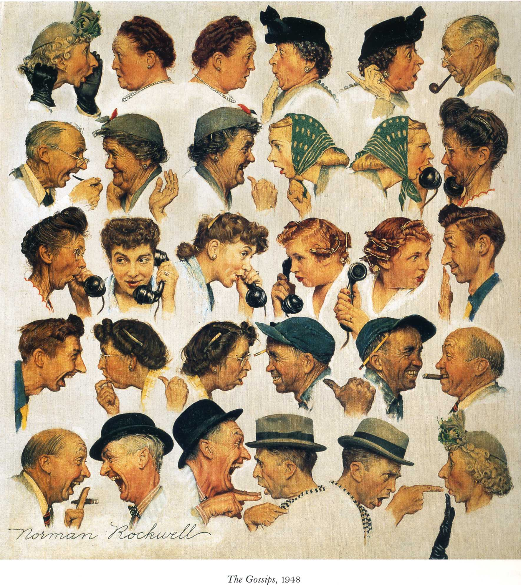 the gossips   norman rockwell   wikiart org