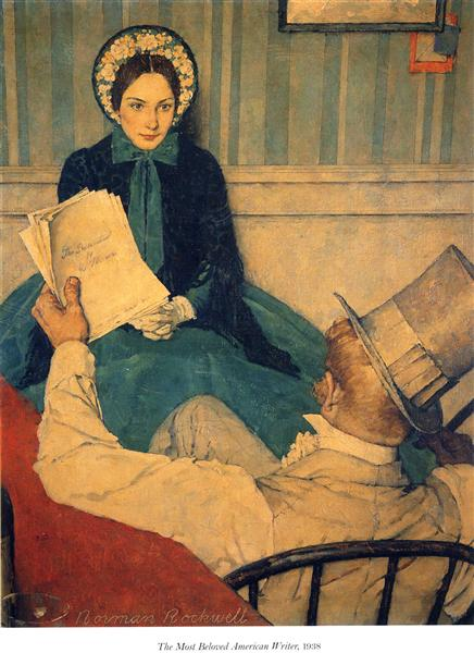 The most beloved american writer, 1938 - Norman Rockwell