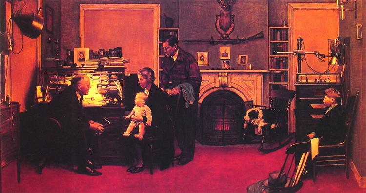 Visits a Country Doctor, 1947 - Norman Rockwell