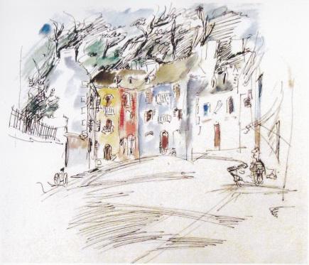 Old Street in Pont Aven - Nutzi Acontz