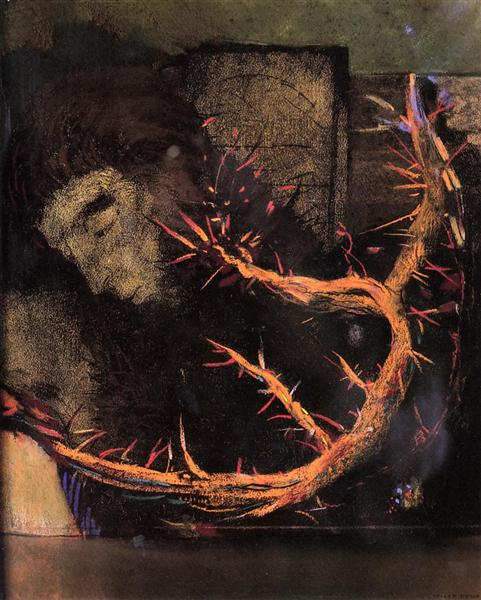 Christ with Red Thorns, c.1897 - Odilon Redon