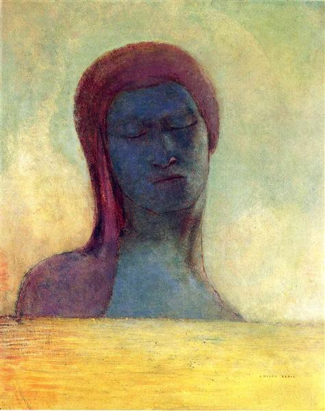 Closed Eyes, c.1894 - Odilon Redon