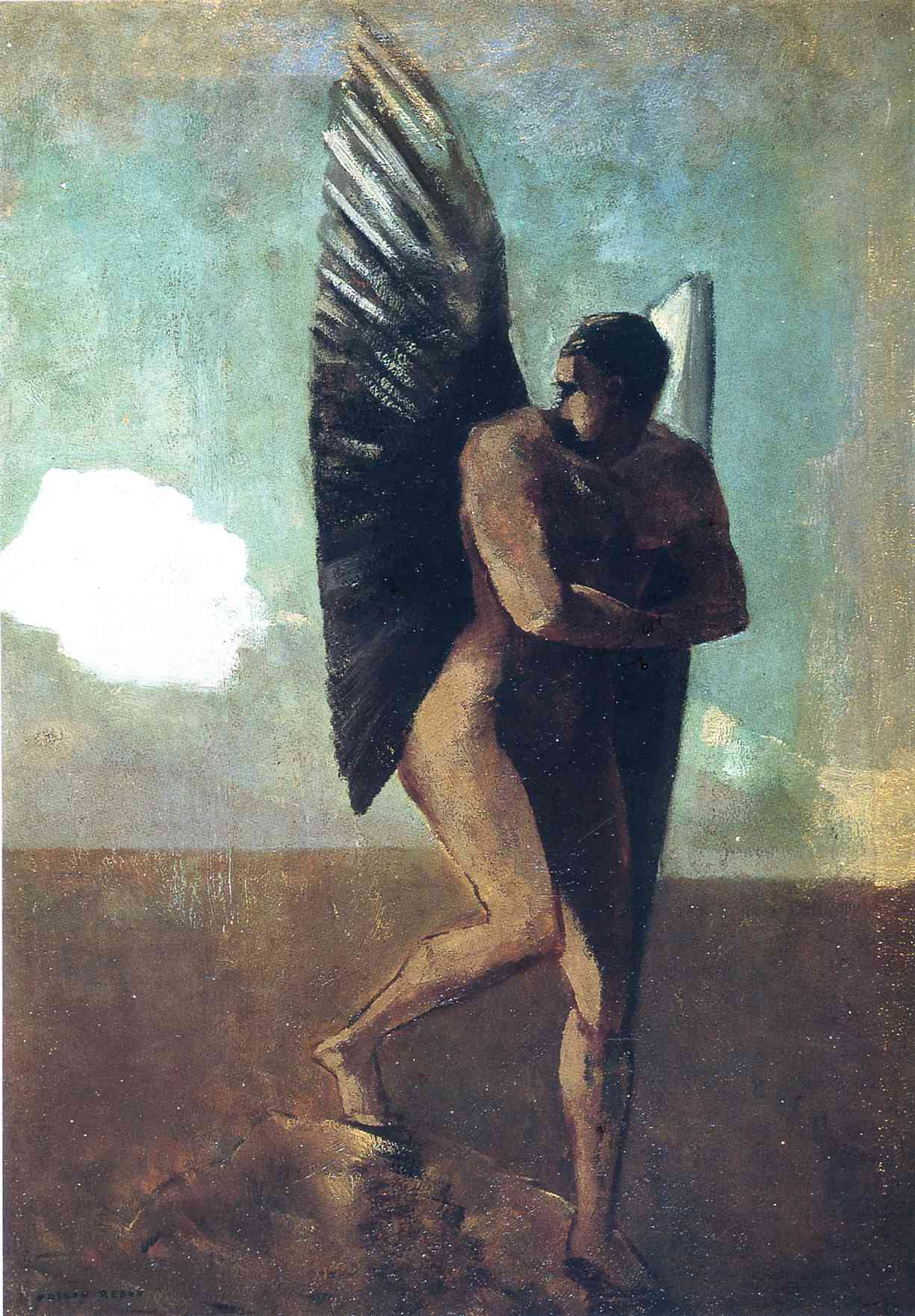 Fallen Angel Looking At At Cloud, C.1875