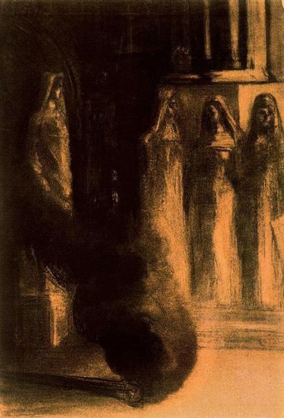 The Black Torches, 1889 - Odilon Redon