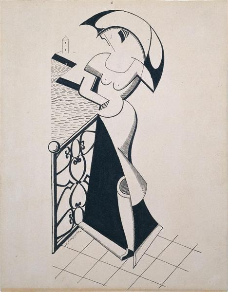 Woman with Umbrella, 1916 - 1919 - Olexandr Archipenko