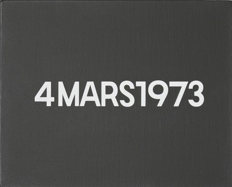 4 Mars 1973 (from Today Series), 1973 - 河原溫