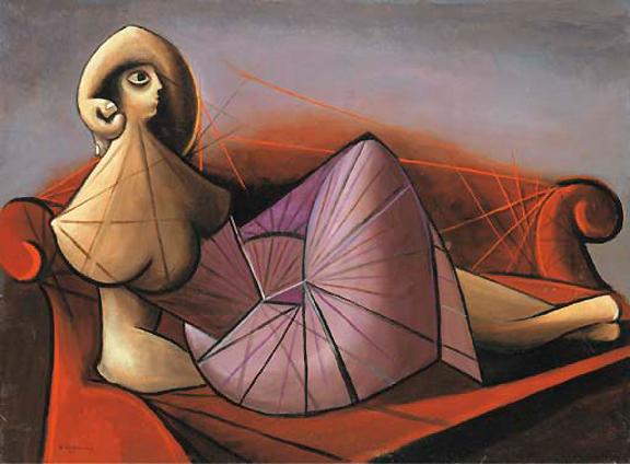 Femme sur Divan, 1942 - Óscar Domínguez