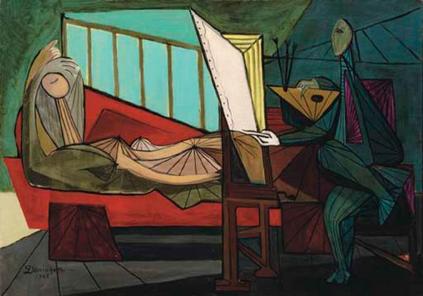 Le Peintre et son Modèle - Oscar Dominguez