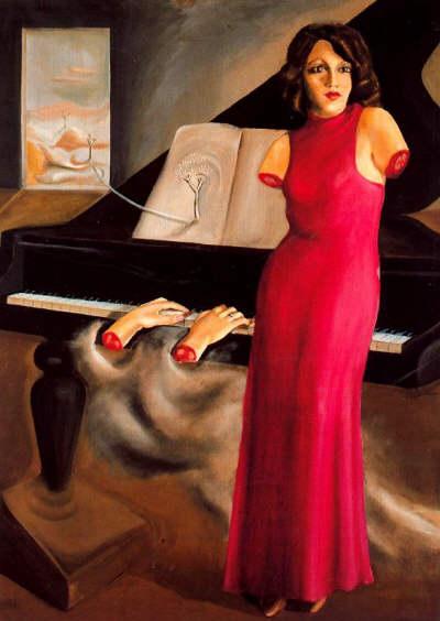 Retrato de Roma, 1933 - Oscar Dominguez