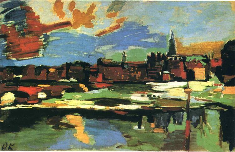 The Elbe at Dresden, 1922 - Oskar Kokoschka