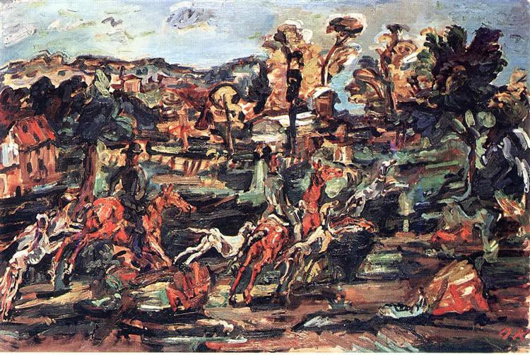The Hunt - Oskar Kokoschka