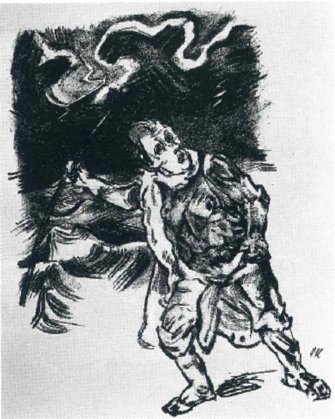 Traveler in a Thunderstorm, 1914 - Oskar Kokoschka
