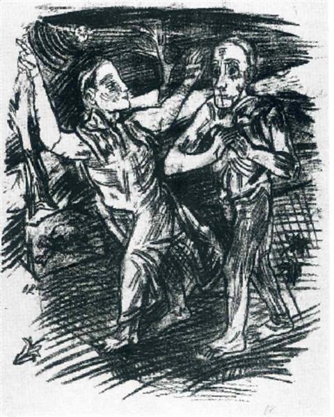 The Woman Leads the Man, 1914 - Oskar Kokoschka