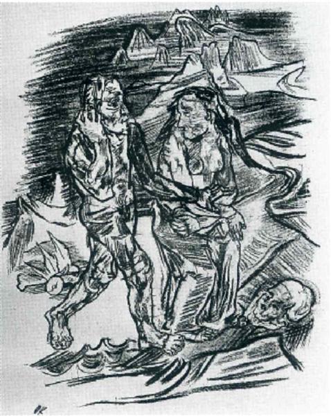 Man and Woman on the Road to Death, 1914 - Oskar Kokoschka