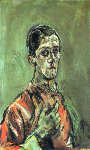 Self-Portrait, 1913 - Oskar Kokoschka