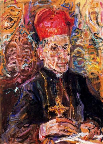 Cardinal della Costa, 1948 - Oskar Kokoschka