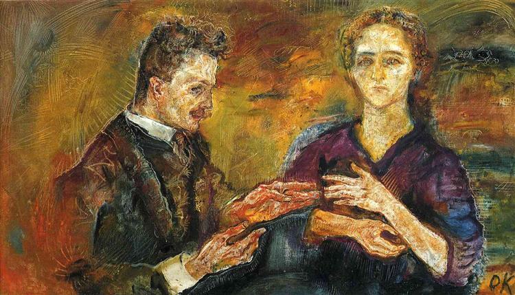 Hans Tietze and Erica Tietze-Conrat, 1909 - 奥斯卡·柯克西卡