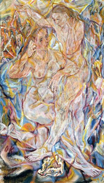Double Nude: Two Women, 1912 - Oskar Kokoschka