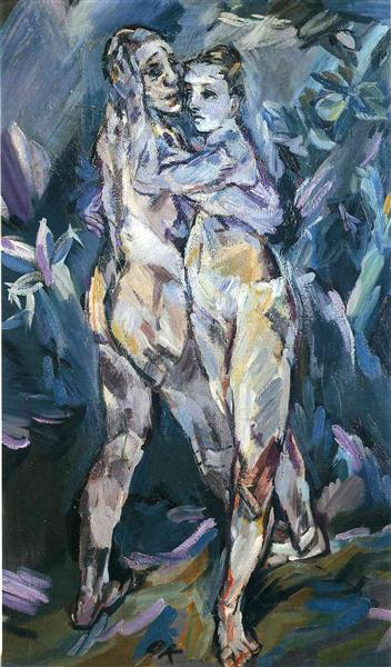 Two Nudes (Lovers), 1913 - Oskar Kokoschka