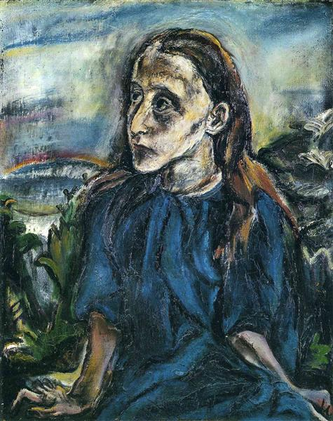 Portrait of a Young Girl - Oskar Kokoschka