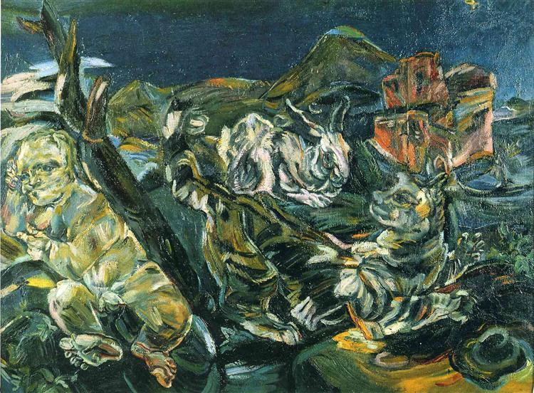 Bodegón with Affair and Rabbit, 1914 - Oskar Kokoschka