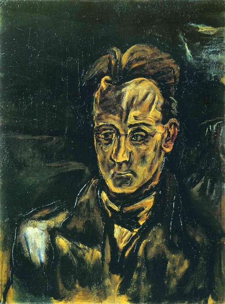 Portrait of the Composer Anton von Webern, 1914 - Оскар Кокошка