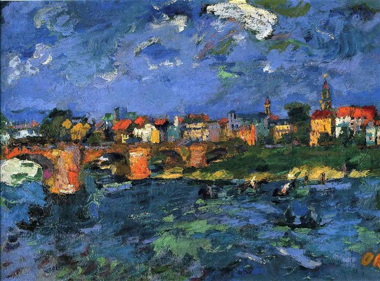 Dresden Neustadt, 1919 - Oskar Kokoschka