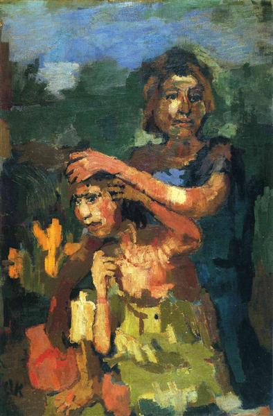 Two children, 1922 - Oskar Kokoschka