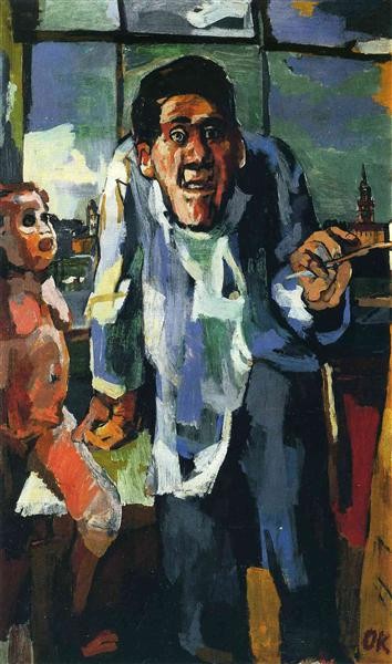 OK at Easel, 1922 - Oskar Kokoschka