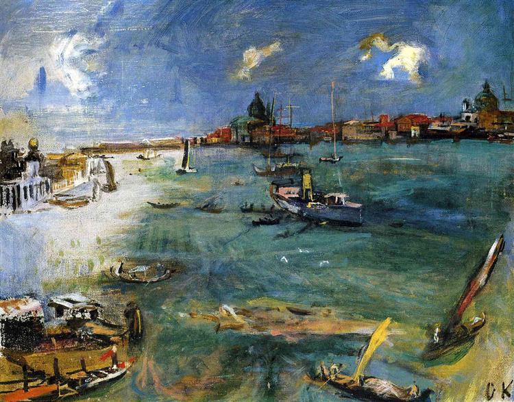 Venice - Boats on the Dogana, 1924 - Oskar Kokoschka