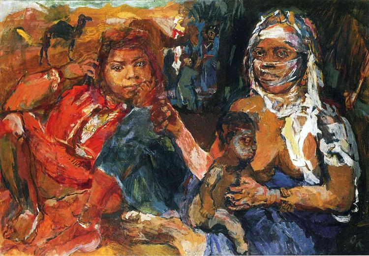 Arab Woman and Child, 1929 - Oskar Kokoschka