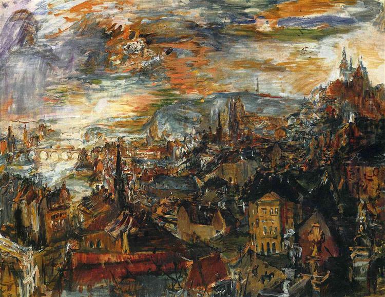 View of Prague, 1934 - Oskar Kokoschka