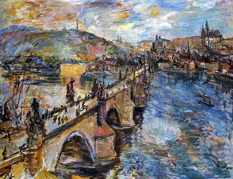Charles Bridge, 1934 - Oskar Kokoschka