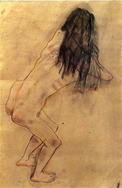 Nude with Back Turned, 1907 - Oskar Kokoschka