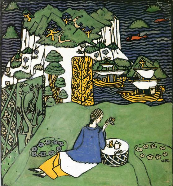 The Distant Island, 1917 - Oskar Kokoschka