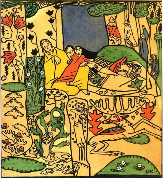 The Sleepers, 1917 - Oskar Kokoschka