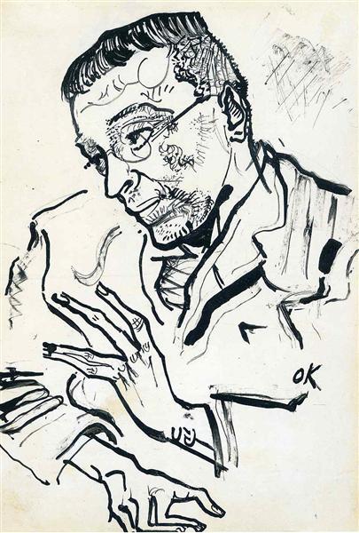 Portrait of Karl Kraus, 1901 - Oskar Kokoschka