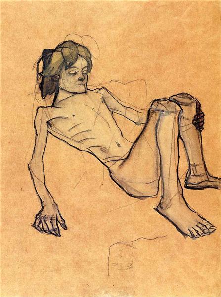 The so-called Savoyard boy, 1913 - Oskar Kokoschka